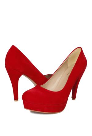 Loggalin 580502 031 527 Kadın Kırmızı Platform Ayakkabı