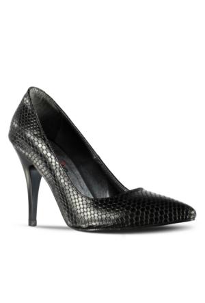 Marjin Asiyso Topuklu Ayakkabı Siyah Yılan