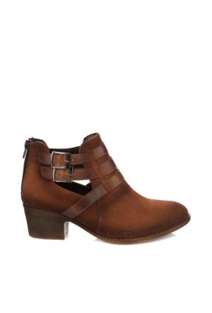Pembe Potin Taba Nubuk Ayakkabı