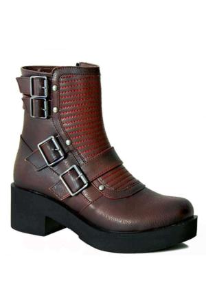 Ayakkabım Çantam 2425 Kadın Bot Bordo