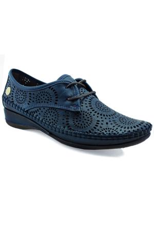 Mammamia D16Ya-3085 Kadın Deri Ayakkabı Koyu Mavi