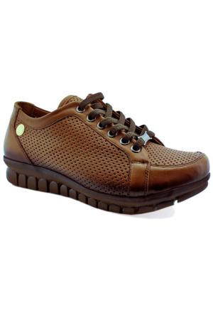 Mammamia D16Ya-370 Kadın Deri Ayakkabı Taba