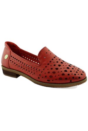 Mammamia D16Ya-675 Deri Kadın Ayakkabı Kırmızı