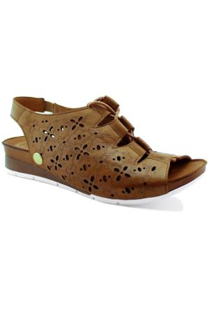 Mammamia D16Ys-1200 Ortopedik Tabanlı Deri Sandalet Taba