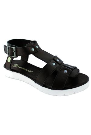 Mammamia D16Ys-1230 Kadın Deri Sandalet Siyah