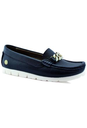 Mammamia D16Ya-3805 Kadın Deri Ayakkabı Lacivert