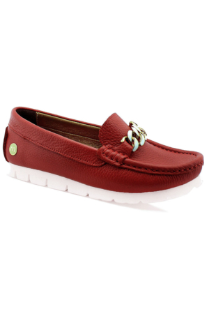 Mammamia D16Ya-3805 Kadın Deri Ayakkabı Kırmızı