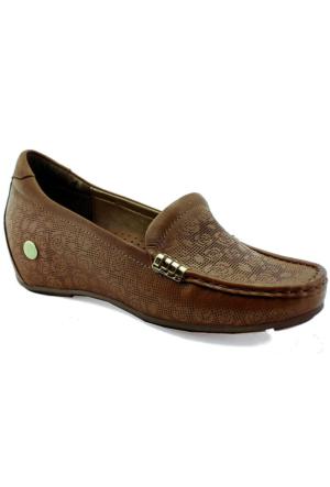 Mammamia D16Ya-4035 Ortopedik Tabanlı Deri Ayakkabı Taba