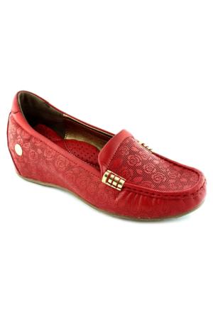 Mammamia D16Ya-4035 Ortopedik Tabanlı Deri Ayakkabı Kırmızı