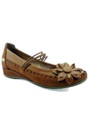 Mammamia D16Ya-4040 Ortopedik Deri Ayakkabı Taba