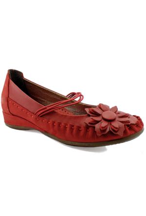 Mammamia D16Ya-4040 Ortopedik Deri Ayakkabı Kırmızı