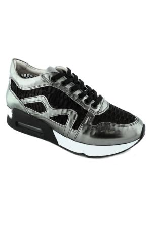 Ottimo 4042 Fileli Kadın Ayakkabı Lame
