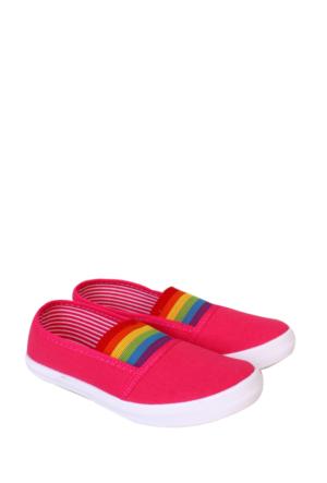 Altınbaş Ayakkabı Fuşya Kız Çocuk Filet Keten Ayakkabı 18404