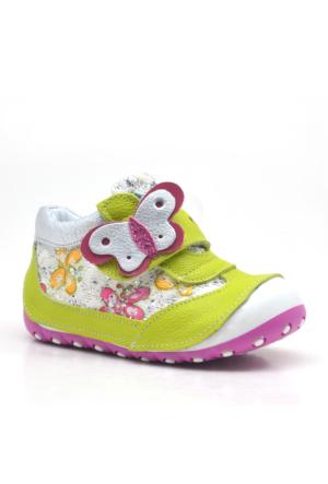 Nino Hakiki Deri Cırtlı Ortopedik Kız Bebek Ayakkabısı