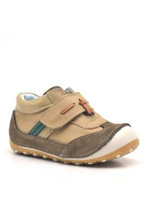 Nino Hakiki Deri Cırtlı Ortopedik Erkek Bebek Ayakkabısı