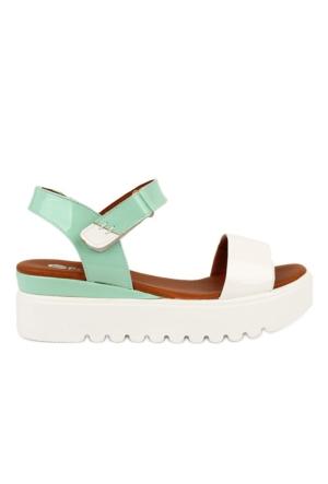 Pomp Shoes Kadın Deri Sandalet