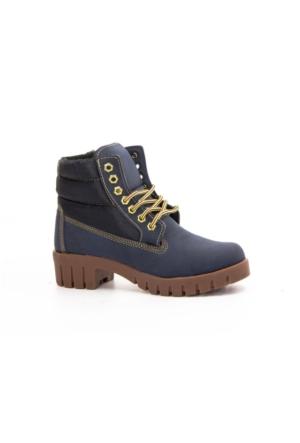 Danpe 910 Bağcıklı Kaucuk Taban Bayan Bot Ayakkabı