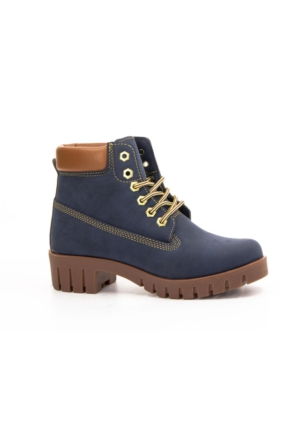 Danpe 915 Bağcıklı Kaucuk Taban Bayan Bot Ayakkabı