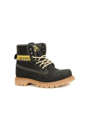 Conteyner 922 Soğuk Geçirmez Erkek Çocuk Kışlık Bot Ayakkabı