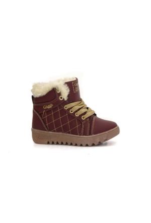 Giggs 020 Termal Kürklü Fermuarlı Kız Çocuk Kışlık Bot Ayakkabı