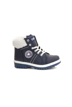 Somicks 525 Kışlık İçi Kürklü Kız Çocuk Bot Ayakkabı