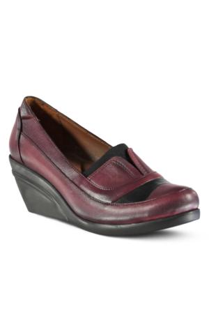 Marjin Tipor Topuklu Deri Ayakkabı Bordo