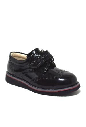 Raker Siyah Rugan Cırtlı Erkek Bebek Ayakkabısı