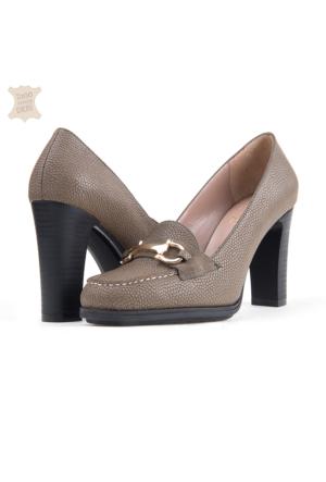 Dyn Topuklu Kadın Ayakkabı Haki