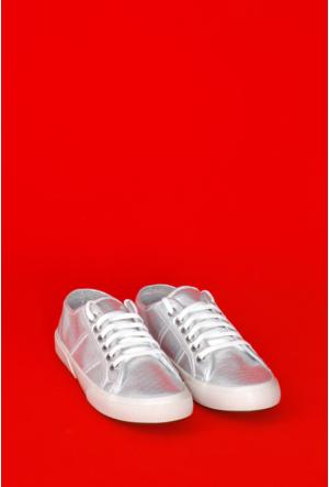 Yıldız Kundura Gümüş Soft Superga Bayan Ayakkabı