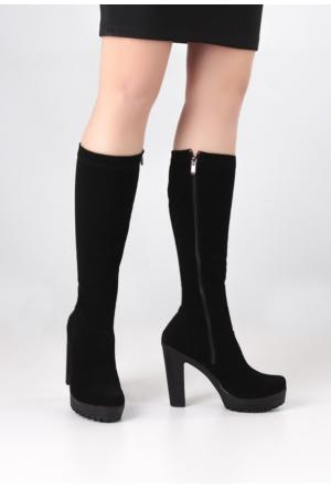 Erbilden Erb Siyah Kadın Çorap Çizme