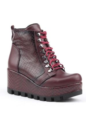 Siber 7132-B Dolgu Topuk Termo Taban Bayan Bot Ayakkabı