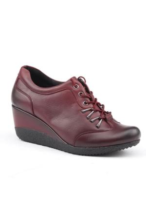Siber 7554 Deri Günlük Ortopedik Bayan Ayakkabı
