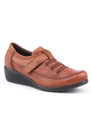 Siber 7507 Deri Günlük Ortopedik Bayan Ayakkabı