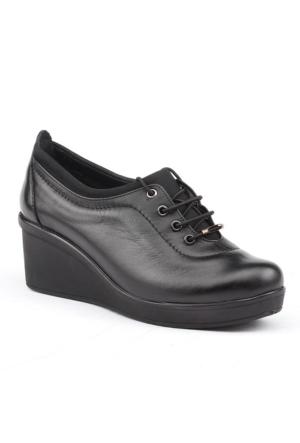 Siber 7566 Deri Günlük Ortopedik Bayan Ayakkabı