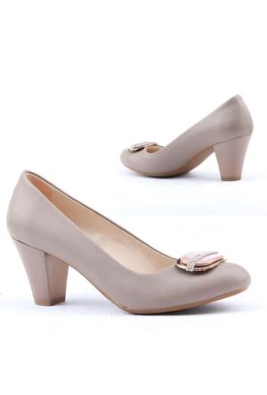 Asm 386 Bayan Topuklu 6,5cm Ayakkabı Klasik Günlük