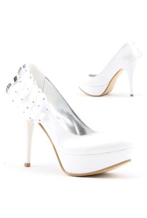 Yağmur 387-1 Abiye Gelin Platform Stiletto Topuk 12cm Bayan Ayakkabı