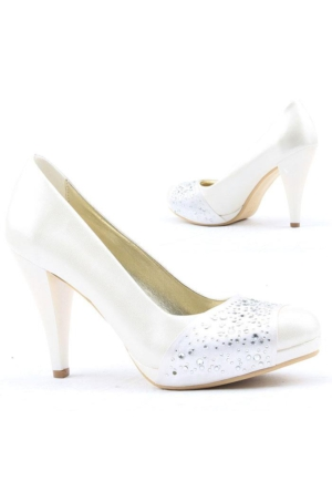 Yağmur 387-3 Abiye Gelin Platform Stiletto Topuk 10,5cm Bayan Ayakkabı