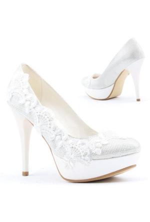 Yağmur 387-4 Abiye Gelin Platform Stiletto Topuk 12cm Bayan Ayakkabı