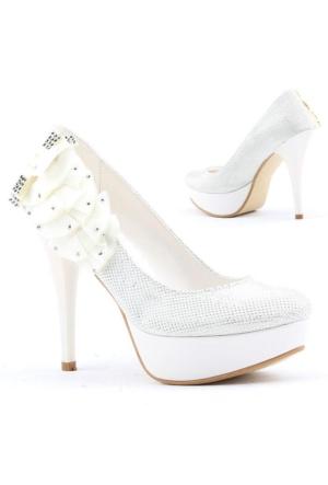 Yağmur 387-5 Abiye Gelin Platform Stiletto Topuk 12cm Bayan Ayakkabı