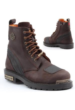 Jump 14505-C %100 Deri Motorcu Çizme Erkek Bot Kışlık Ayakkabı