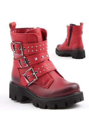 Pinokyo 6052 Kız Çocuk Kışlık Bot Ayakkabı İçi Termal Astarlı