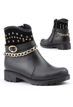 Yeni Sezon 2600 Kız Çocuk Kışlık Bot Ayakkabı İçi Termal Astarlı