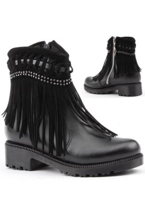 Yeni Sezon 2601 Kız Çocuk Kışlık Bot Ayakkabı İçi Termal Astarlı
