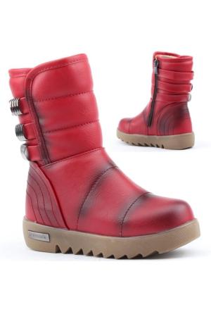 Polact 26026 Kız Çocuk Kışlık Bot Ayakkabı İçi Termal Kürklü