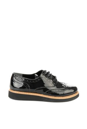 Bambi Kadın Siyah S.Rugan Ayakkabı
