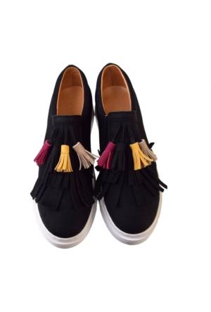 E.S.F Bayan Püsküllü Ayakkabı Sneakers Günlük