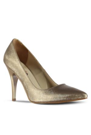 Marjin Esiyso Topuklu Ayakkabı Altın