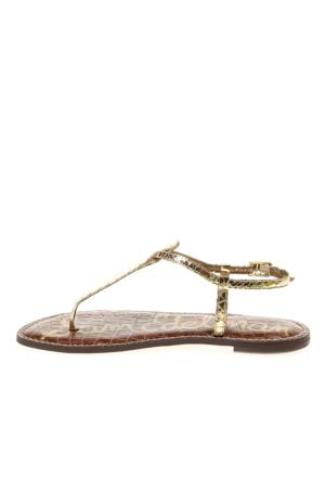 Sam Edelman Gold Boa Print Snake 25956706 Gigi Kadın Sandalet Altın