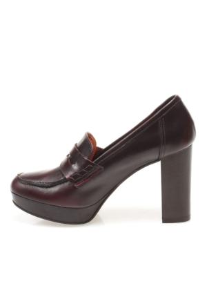 Manas Bordeaux 132L5102Abq Scarpa Donna Kadın Ayakkabı Bordo