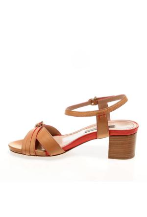 Frau Cuoio 95S5 Parma Kadın Sandalet Kahverengi